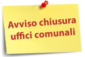 AVVISO – Chiusura Uffici il 7 ottobre per Santo Patrono