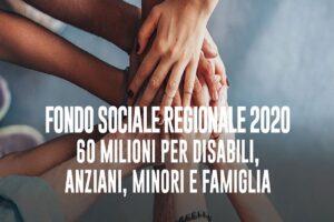FONDO SOCIALE REGIONALE 2020 – scadenza presentazione istanze 11/01/2021