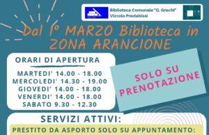 ZONA ARANCIONE: in Biblioteca torna obbligatoria la prenotazione