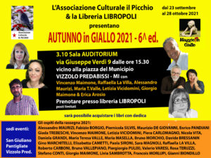 AUTUNNO IN GIALLO – Domenica 3 ottobre in Auditorium